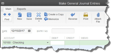 Figure 2: Debit? Credit? Reverse the transaction? No one should be making General Journal entries but you. It's easy to err here; talk to us before using this feature.