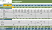 NFP Cash Flow Forecast Template IMAGE