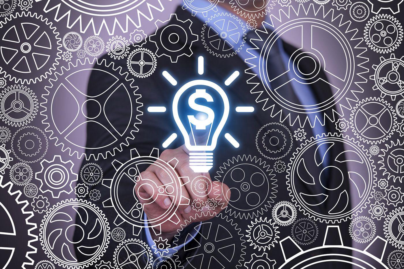 Gross Profits Lightbulb for Business